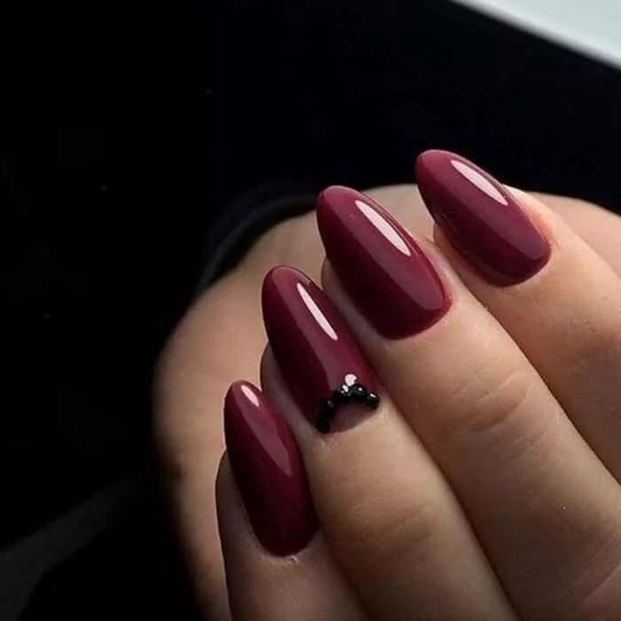 Картинки дизайн ногтей цвет марсала