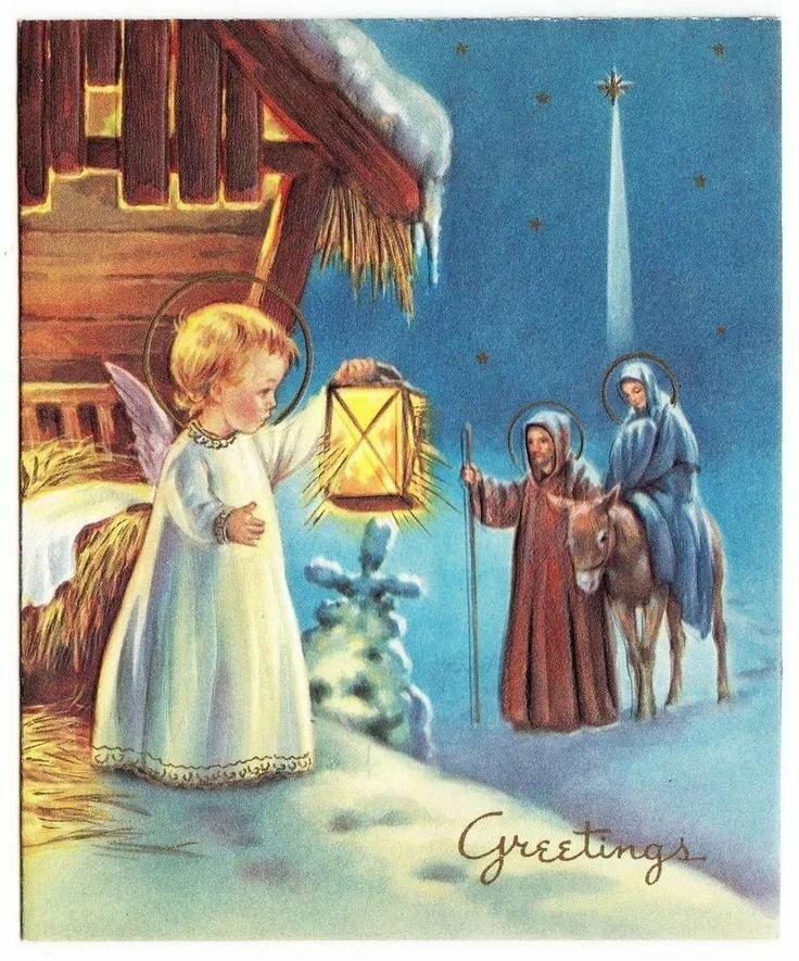 открытки на рождество крещение пасху представлена