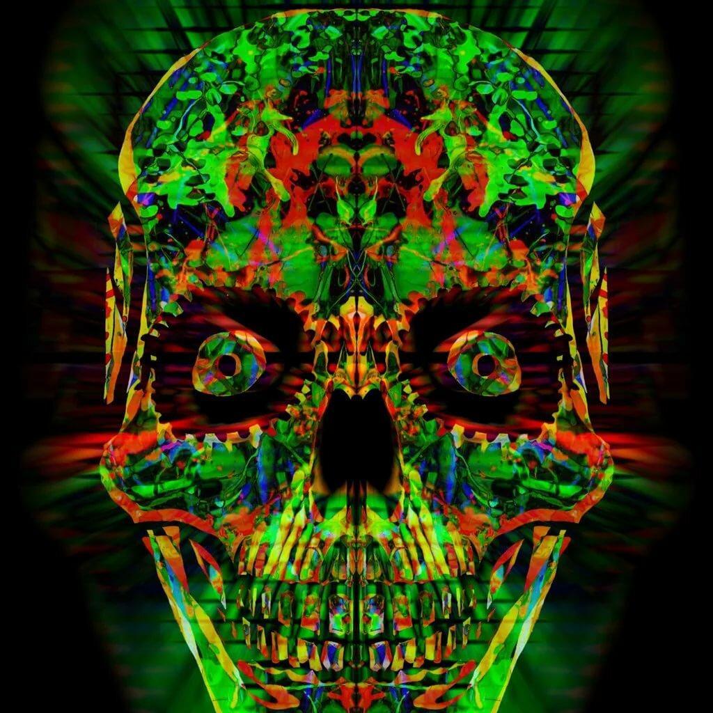 психоделическая картинка с черепом два как обойдемся