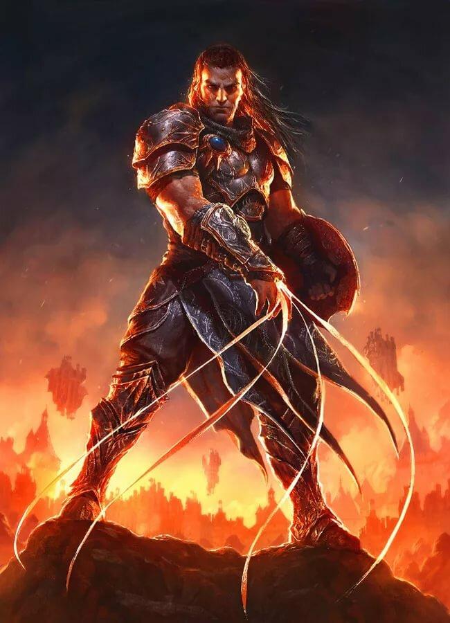 Рисунки фэнтези воинов