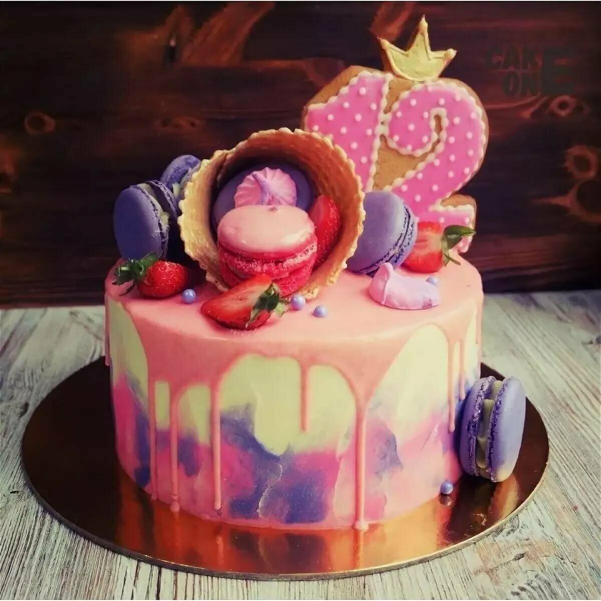 Смотреть картинки тортов на день рождения девочки