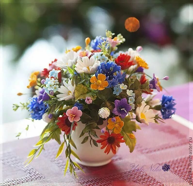 Фото с днем рождения с полевыми цветами