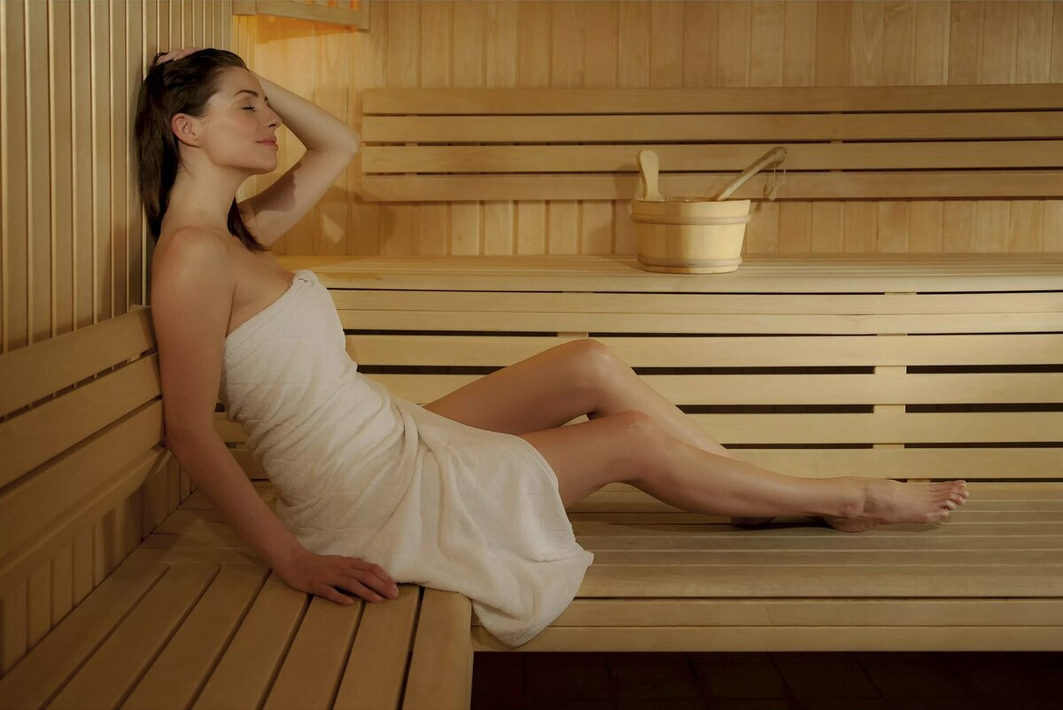 Young girls sauna sex irritated