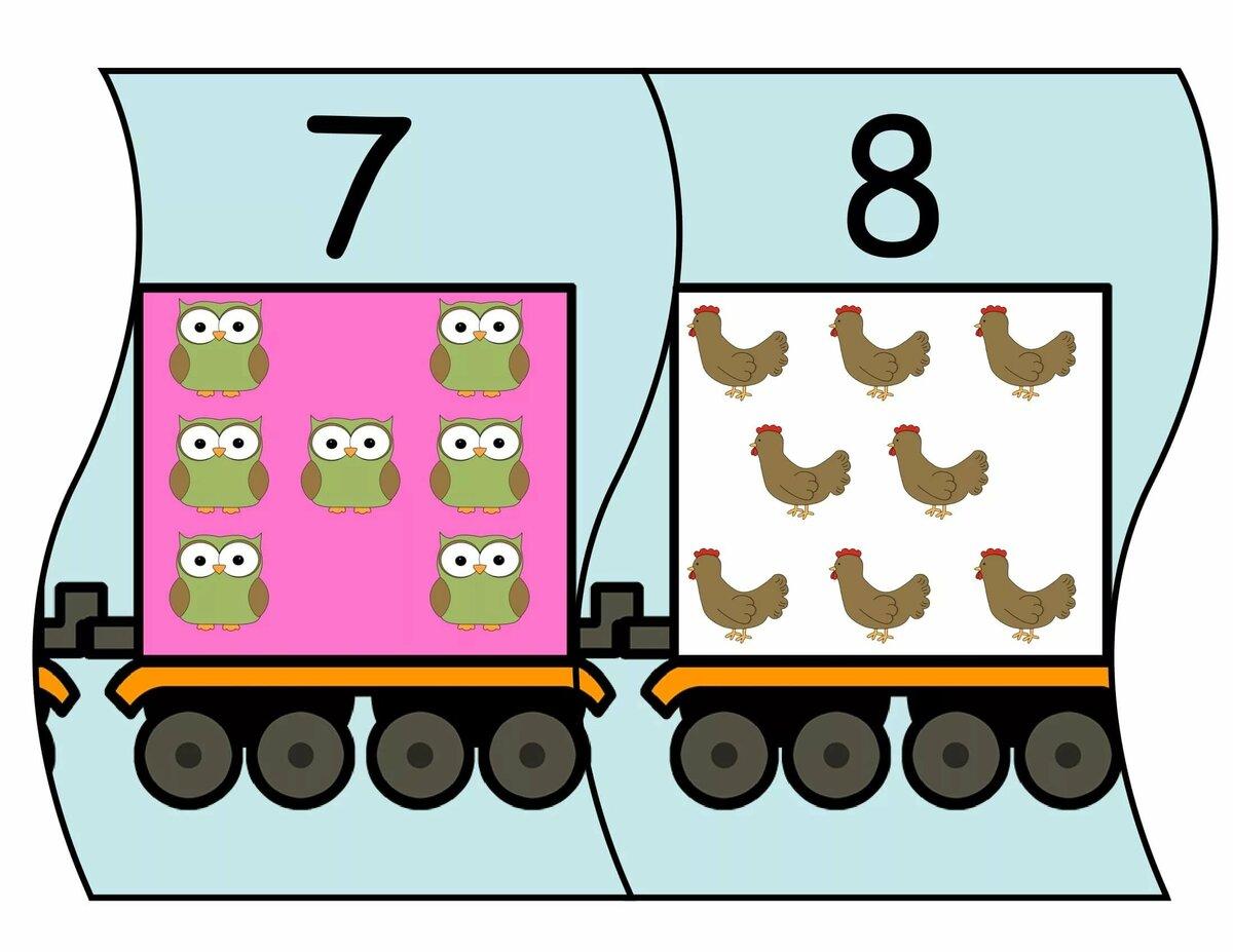 Картинка паровозик с числами
