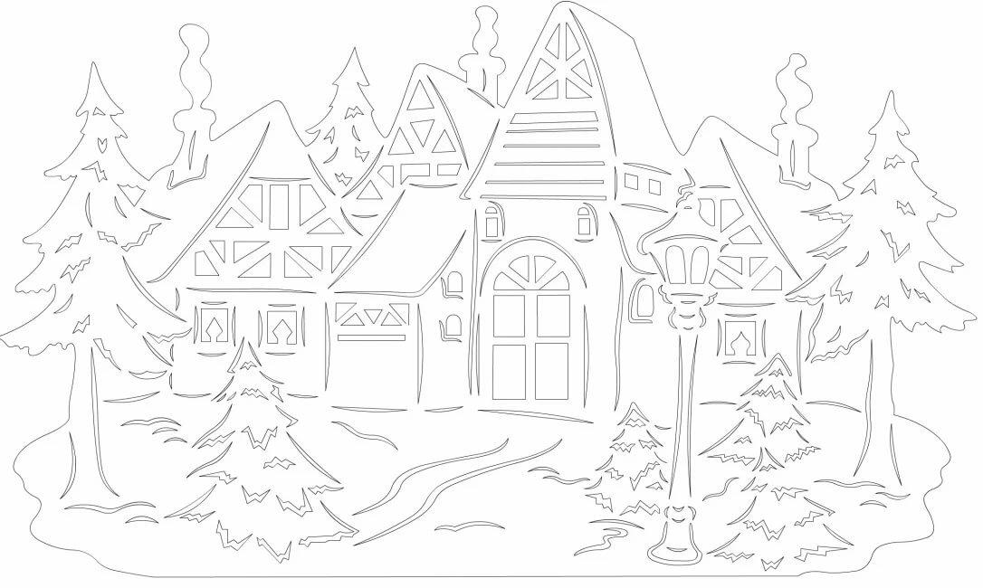 эскалейд шаблоны к новому году зимний сказочный лес можно использовать
