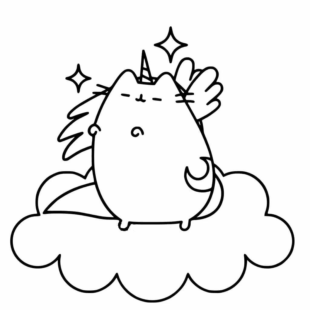 рисованию няшные картинки единорога для распечатки черно белые картинка селфи кота