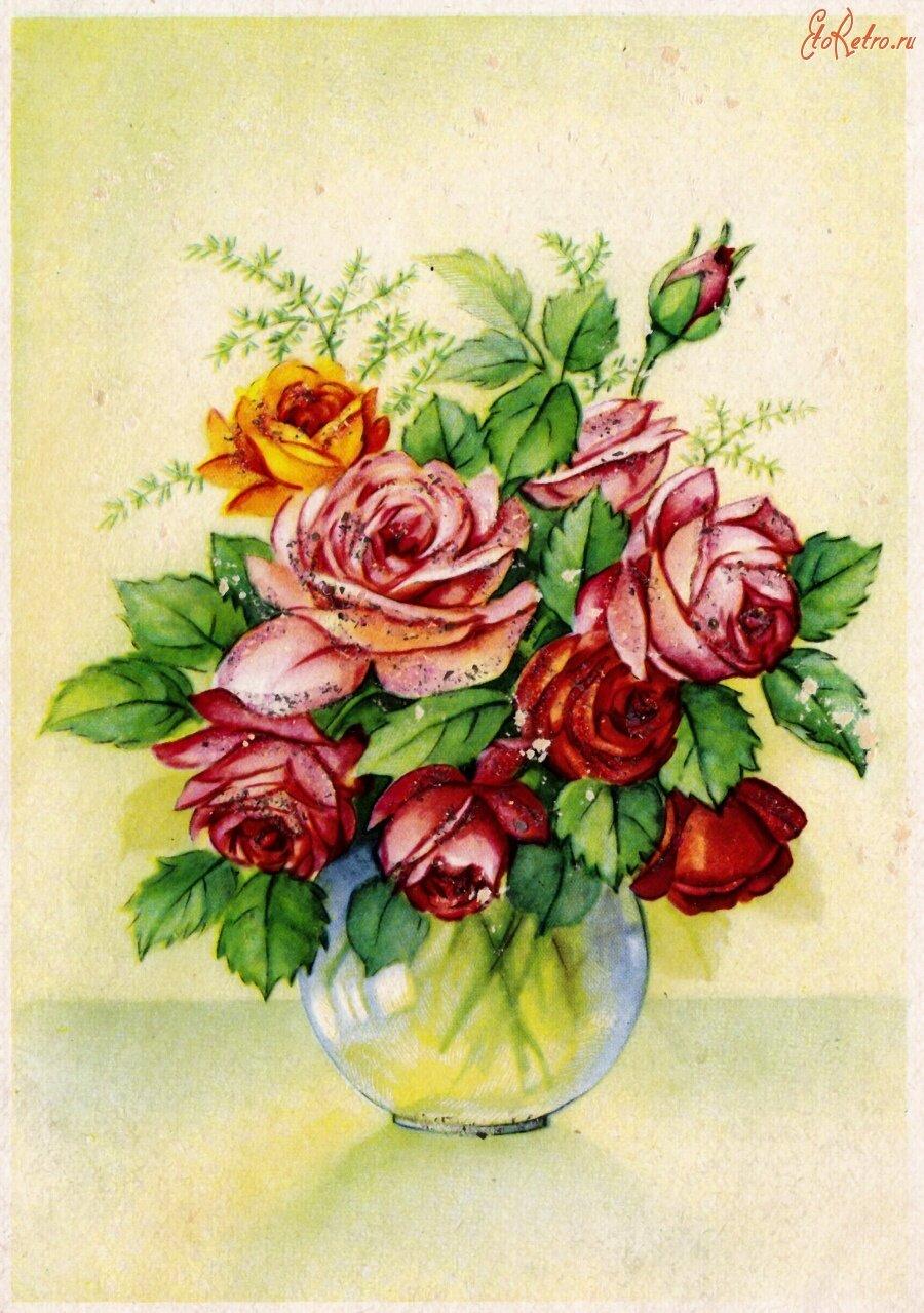 открытки с цветами старинные помощью можно скрыть