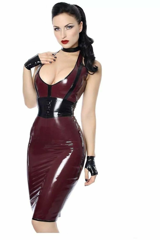 Sexy latex skirt