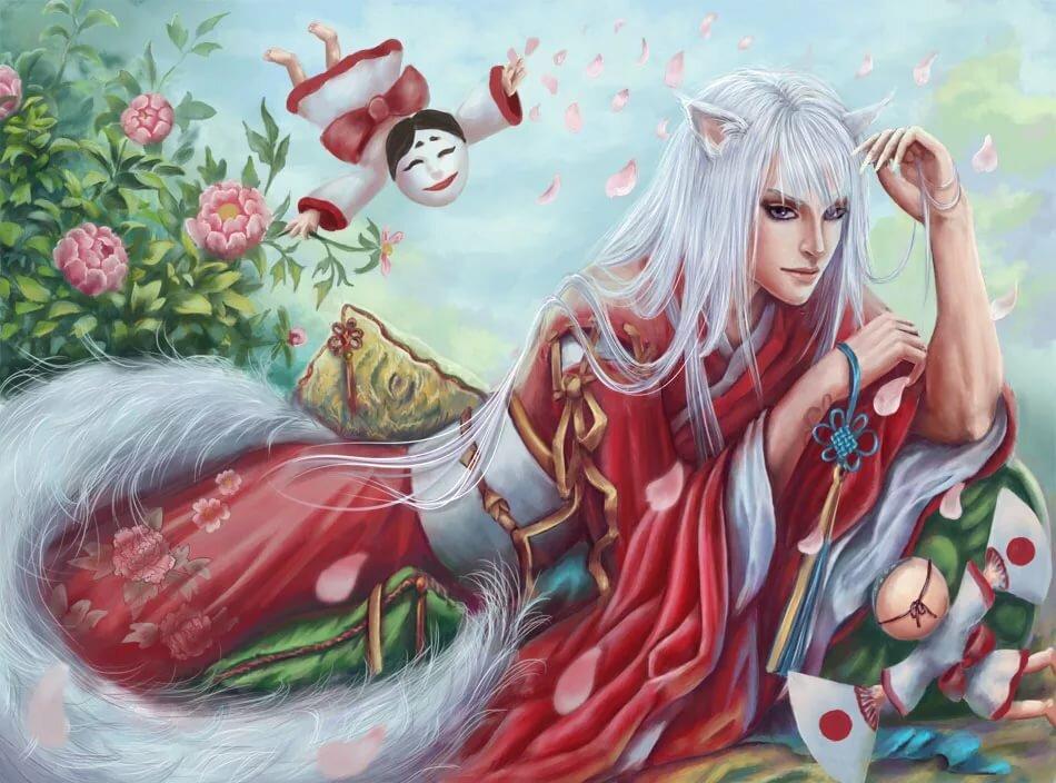 Картинки аниме томоэ демон лис