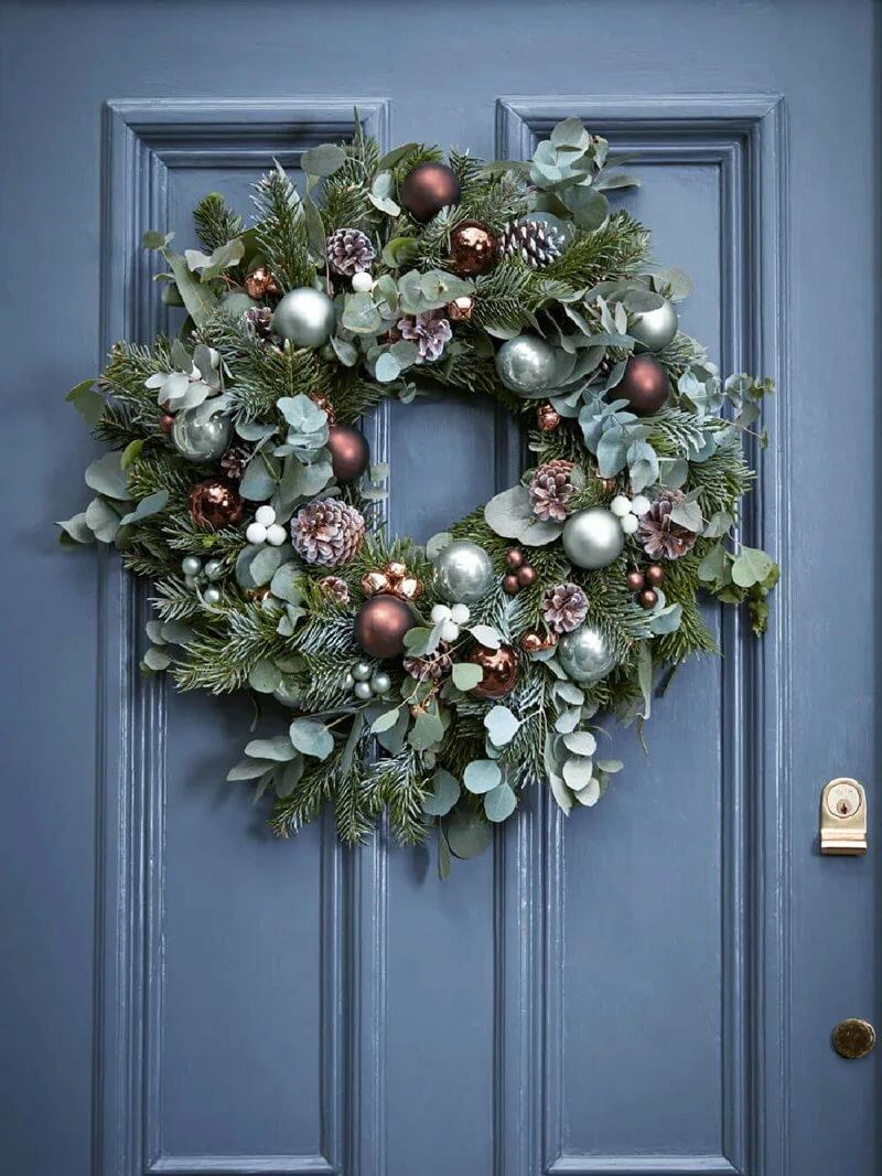 боков картинка новогоднего венка на двери кожу вставляются специальные