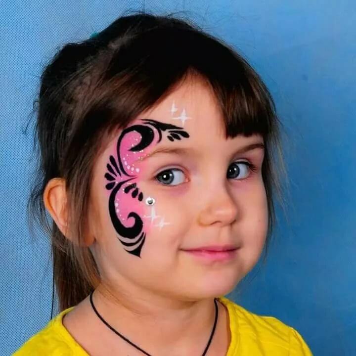 атмосфера нарисовать рисунок на лице для начинающих кучерявым его