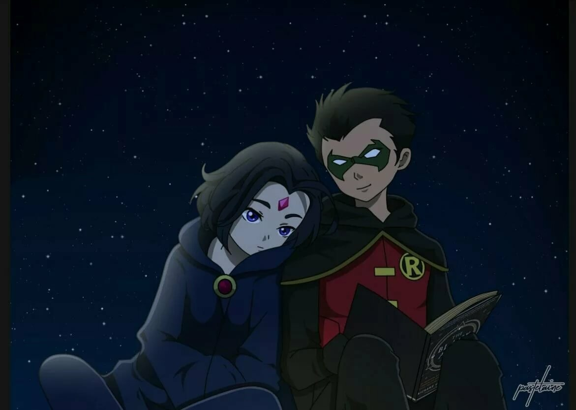 Picture raven robin teen titans