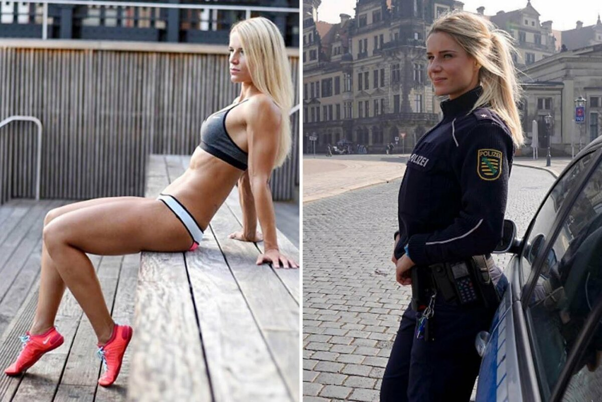 Photos of non nude muscular policemen