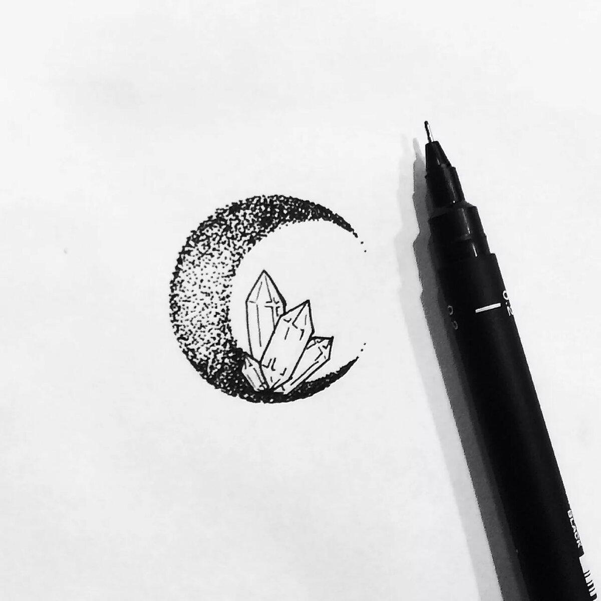 крутые картинки черной ручкой на магическую тему шкафа-купе