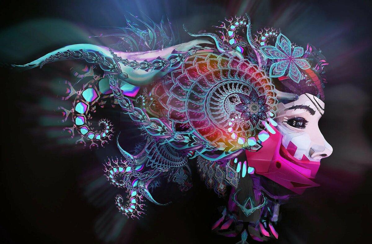 психоделические картинки сайт цветок