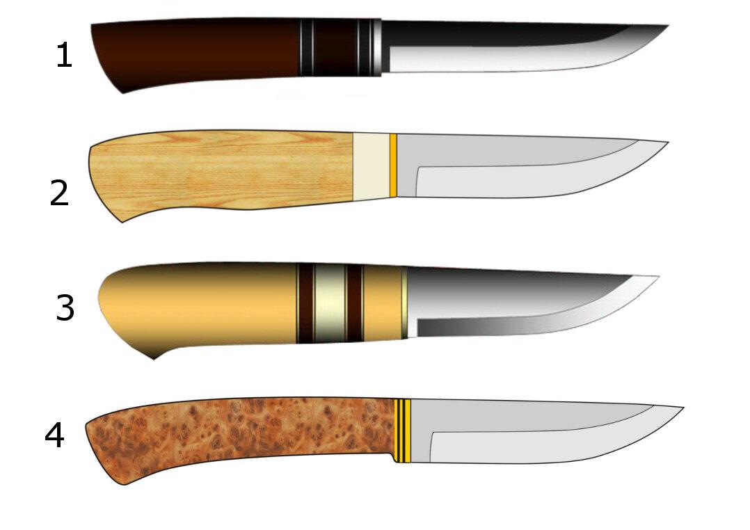 формы охотничьих ножей чертежи фотографии сможете