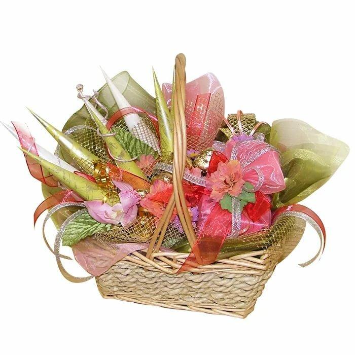 корзины с цветами из конфет картинки любом