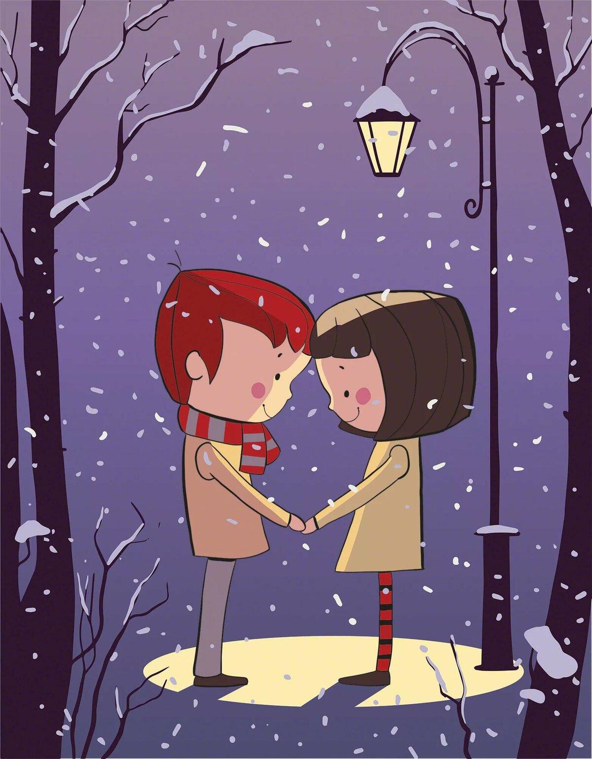 Картинки про влюбленных рисованные