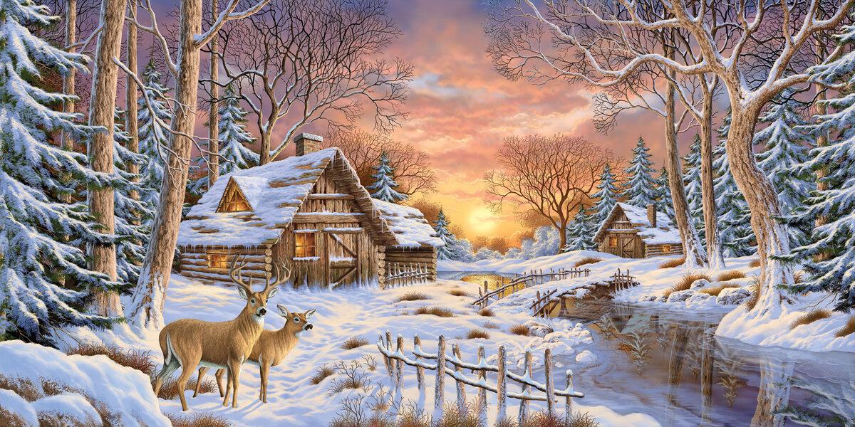 таких картинка зимнего пейзажа книжного варианта распространенных вредных