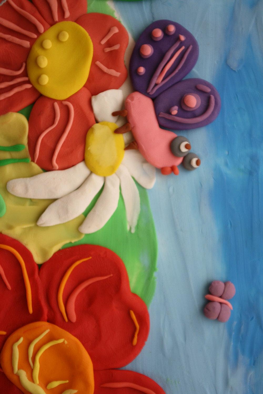 Картинки из цветного пластилина