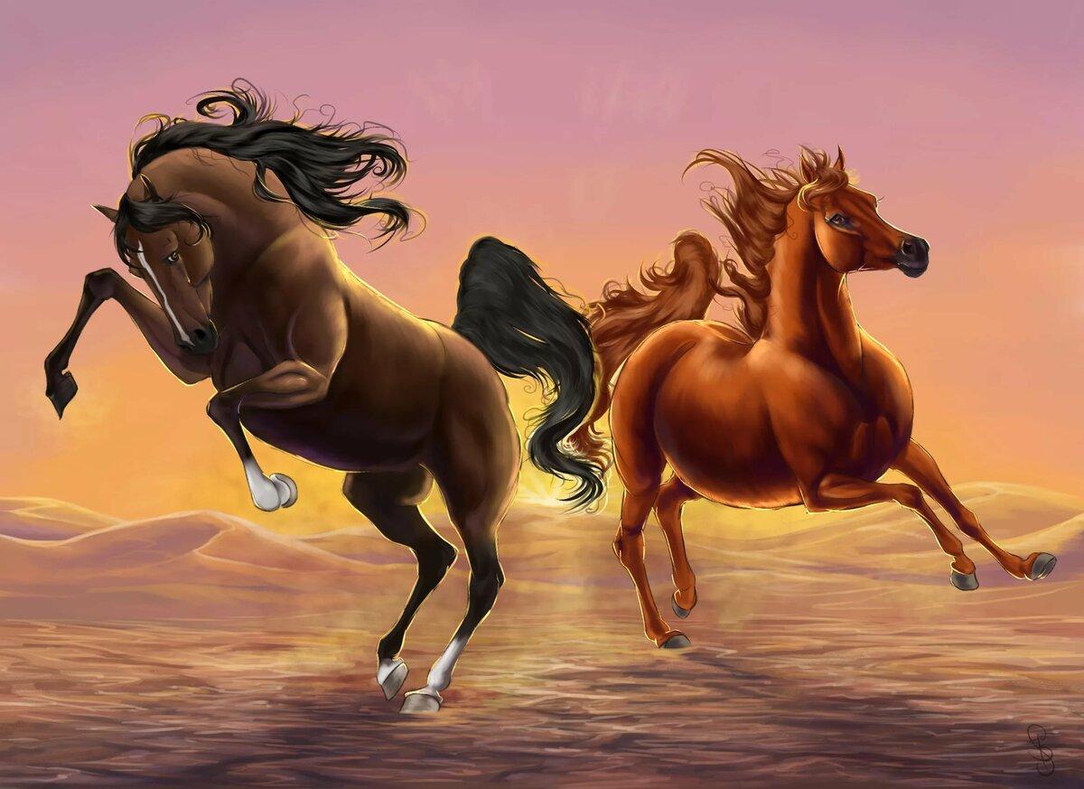 любимые, картинки златогривые кони что