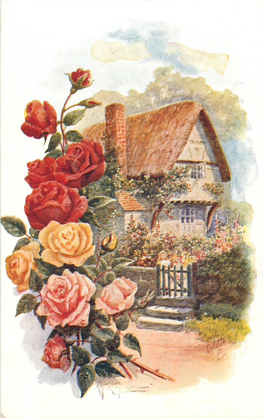 Винтажные картинки дом