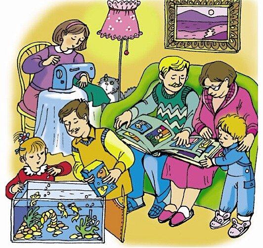 Картинки кто чем занимается дома