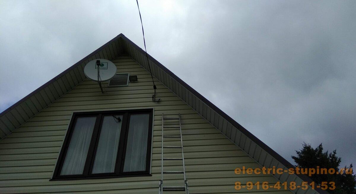 Монтаж вводного кабеля в дом