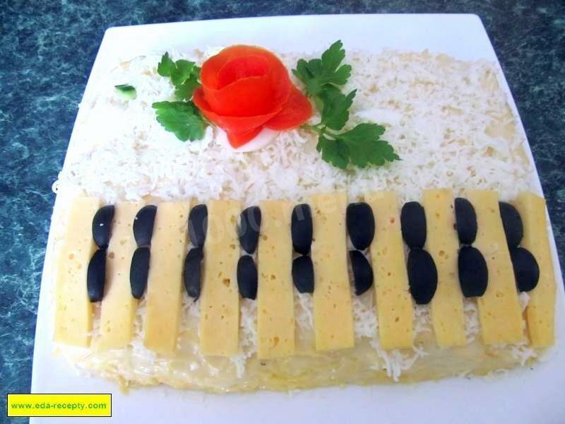 если салат фортепиано рецепт с фото этот день хочу