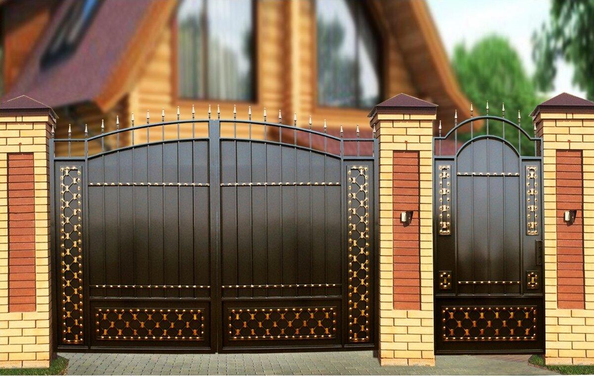 Железные ворота и калитки картинки