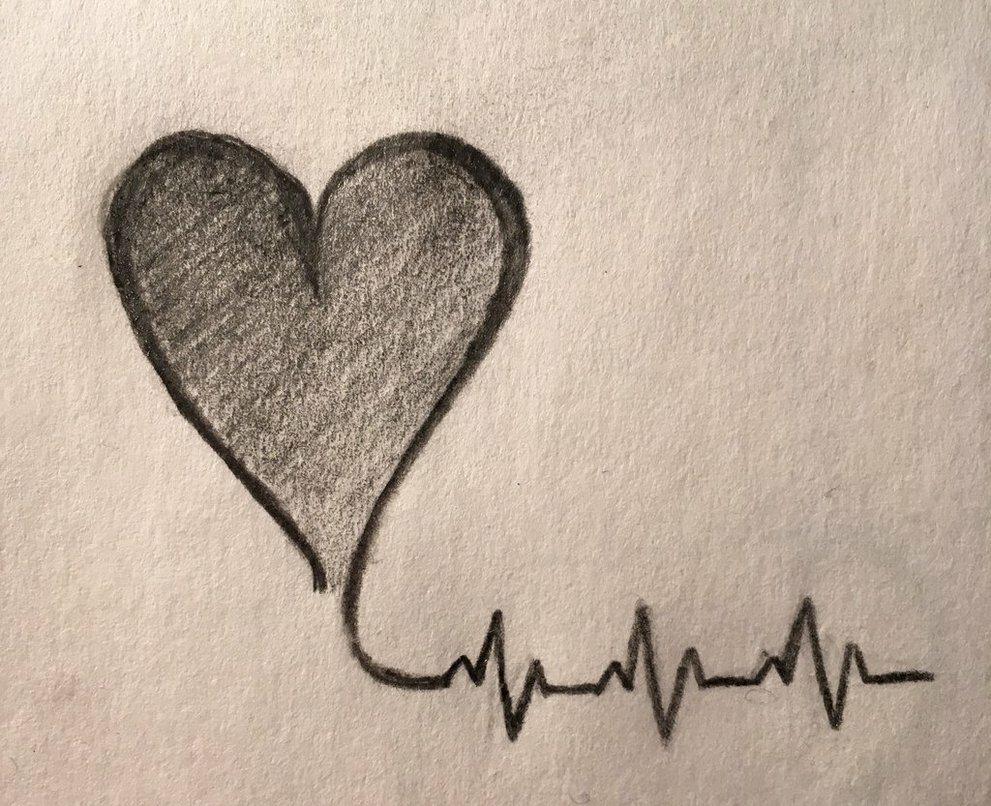Простые картинки для срисовки о любви