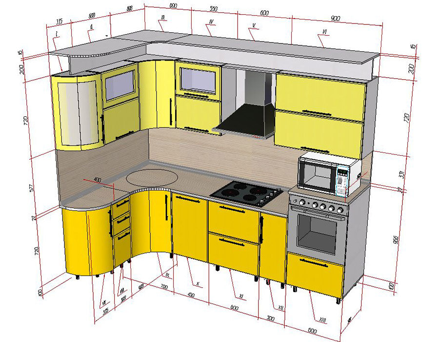 проектирование кухни угловой картинки