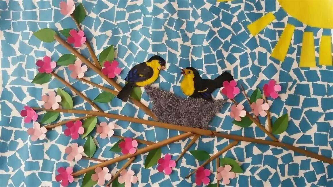 Картинки весенних поделок в детский сад