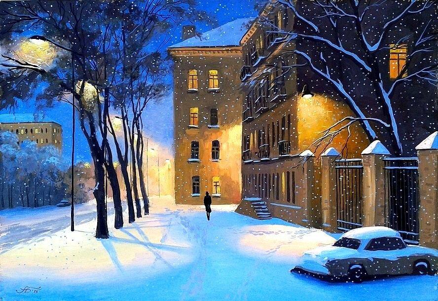 северных вечерний зимний город картинки нарисовать вашим ребенком, это