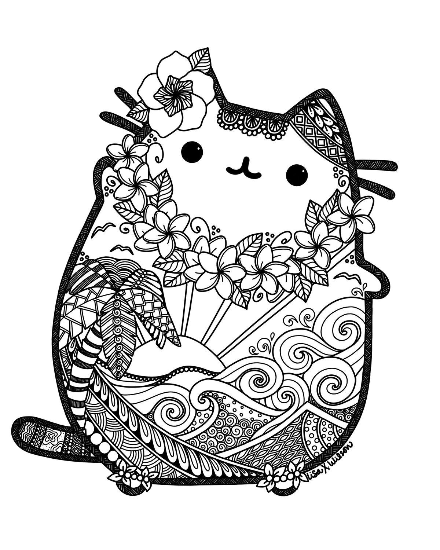 Милые картинки с котами распечатать