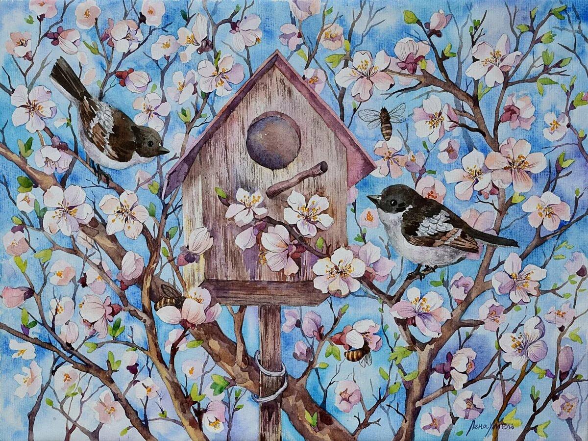 Весна рисунки и картинки