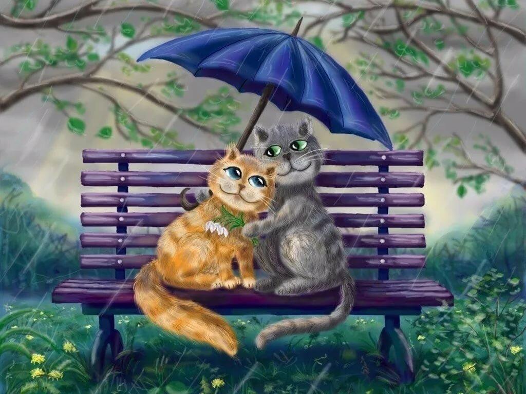 картинка с кошкой на хорошей погоде очень легкие картинки