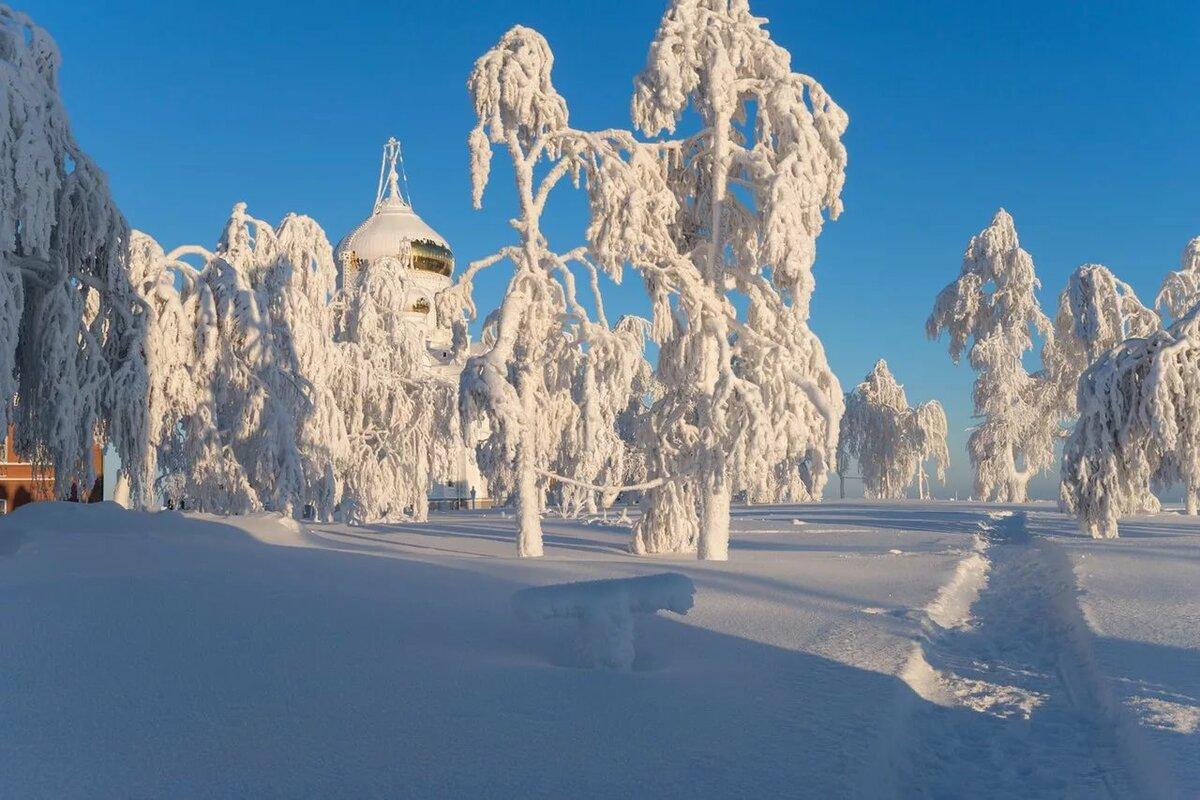Красивая зима россии фото