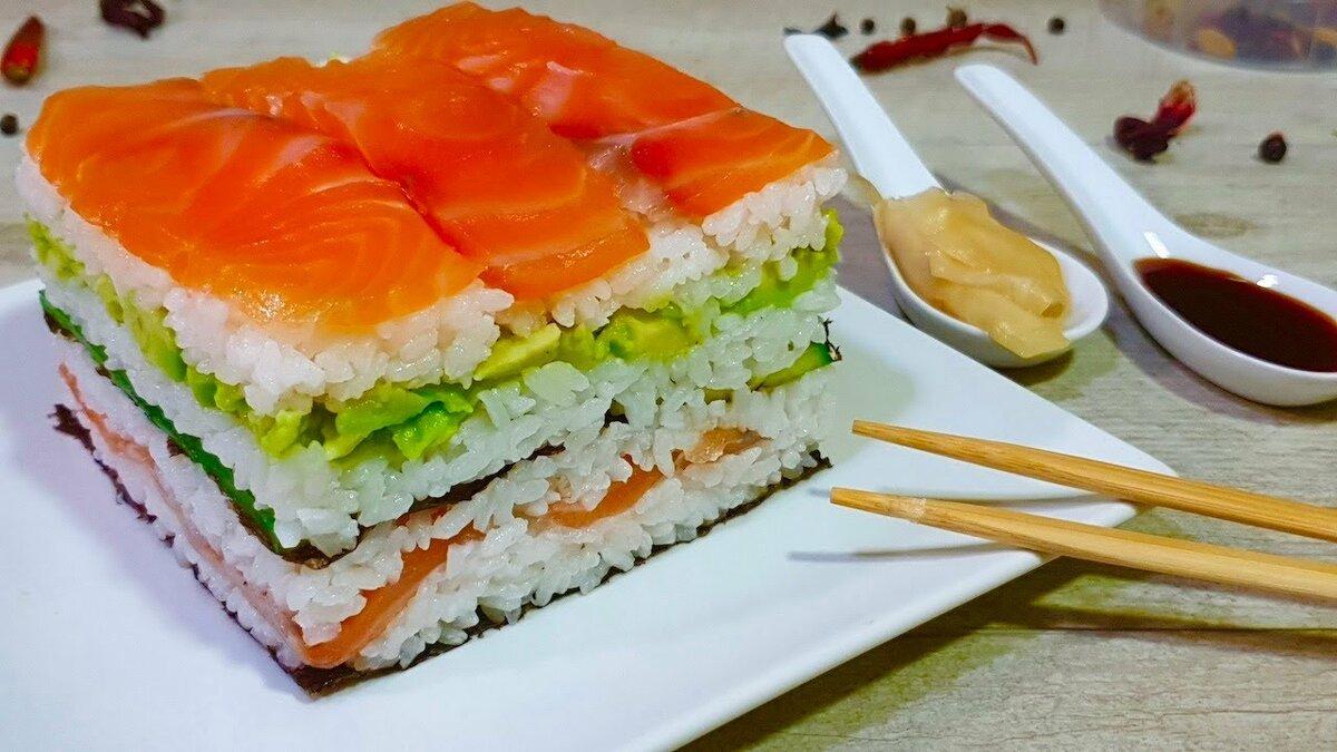 Салат суши слоями рецепт с фото