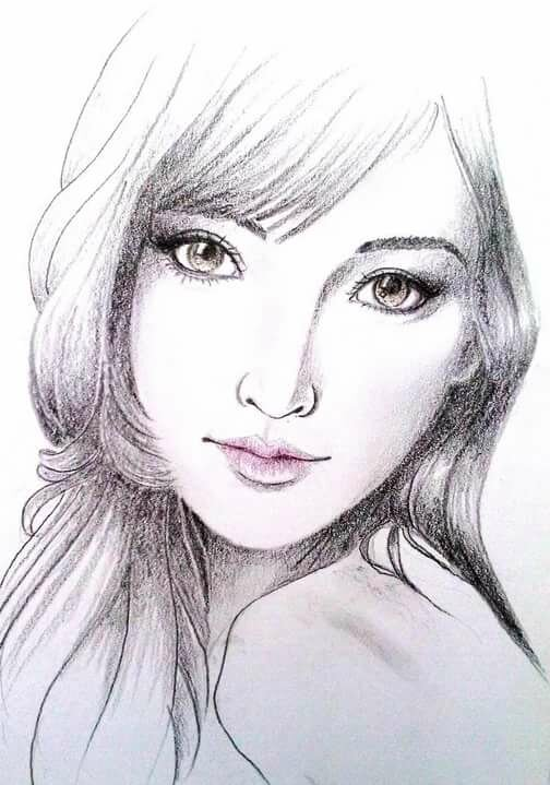 Рисунки картинки девушек женщин