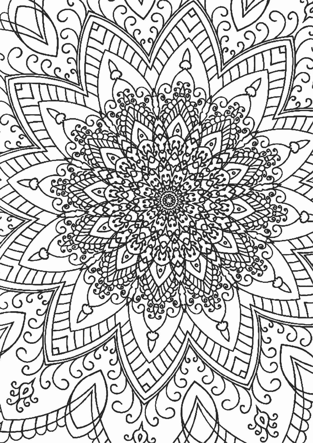 Раскраска от стресса печатать
