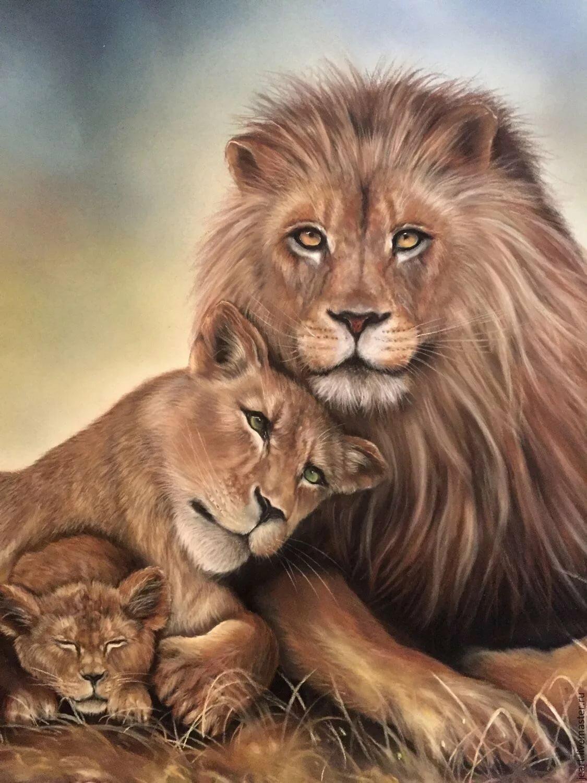 поможет картинки львиные пары узоры рисунок