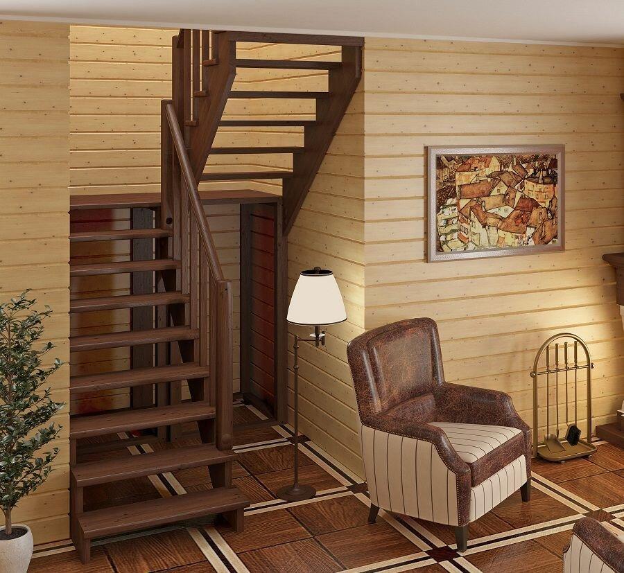 дизайн деревянных лестниц в частном доме фото бехтерева