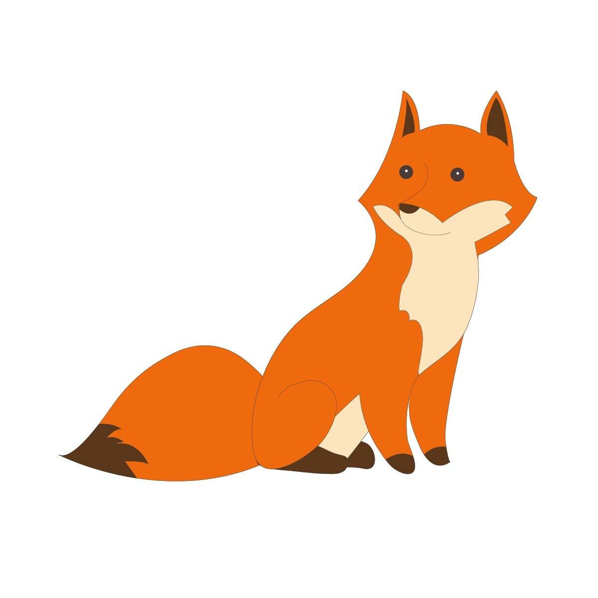 Маленькие картинки лиса для детей