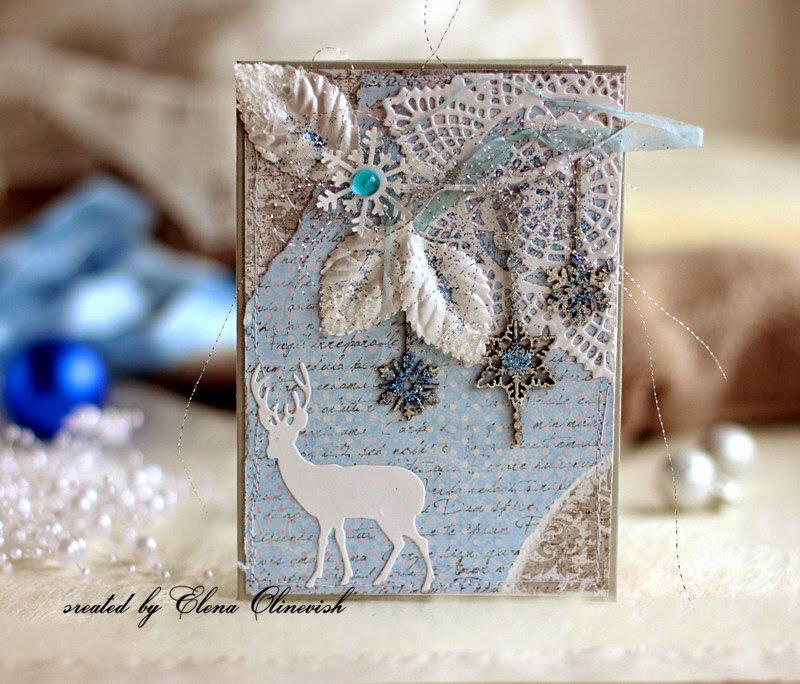 Новогодние открытки кружево