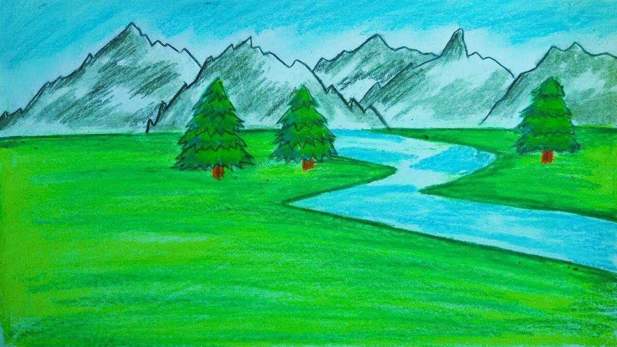 Картинки природы как рисовать