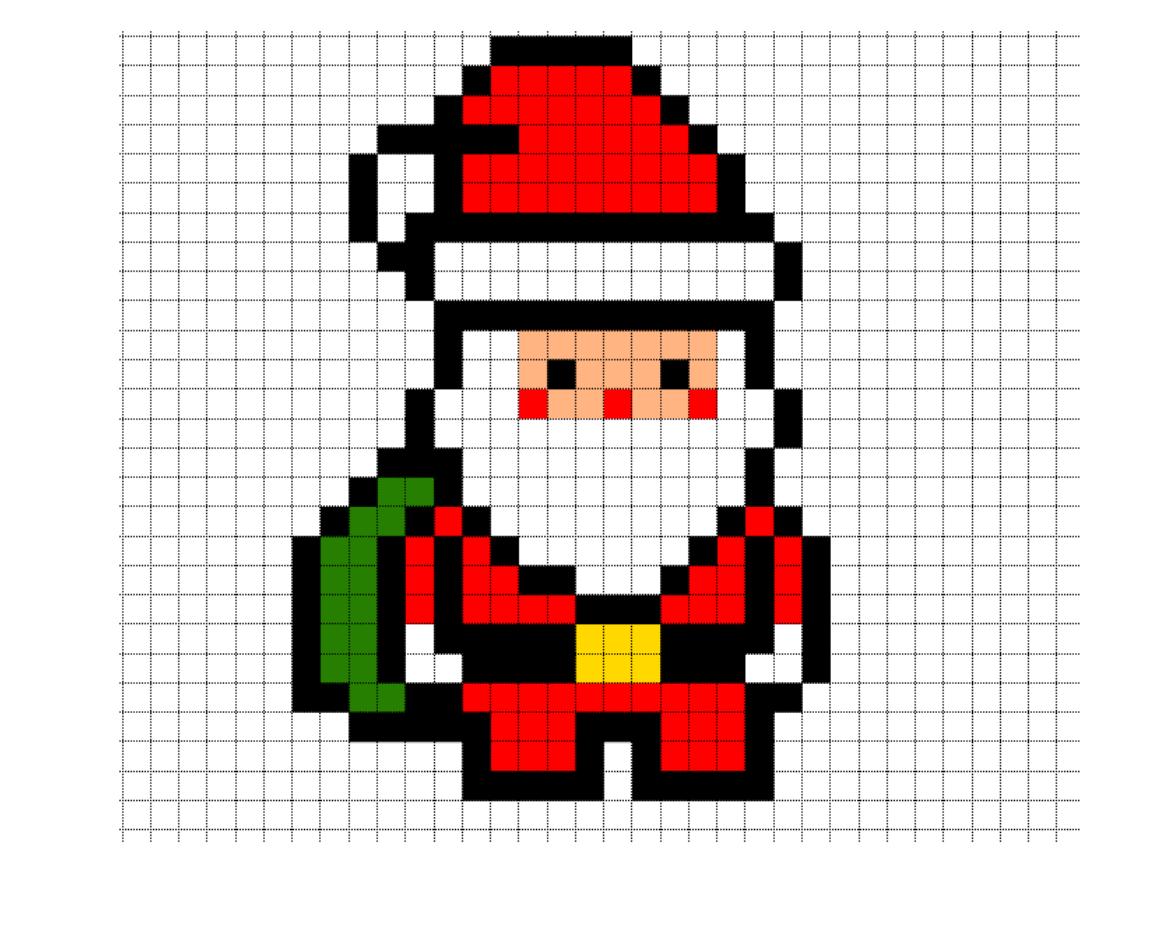 иллюстраций новогодние мини рисунки по клеточкам твои