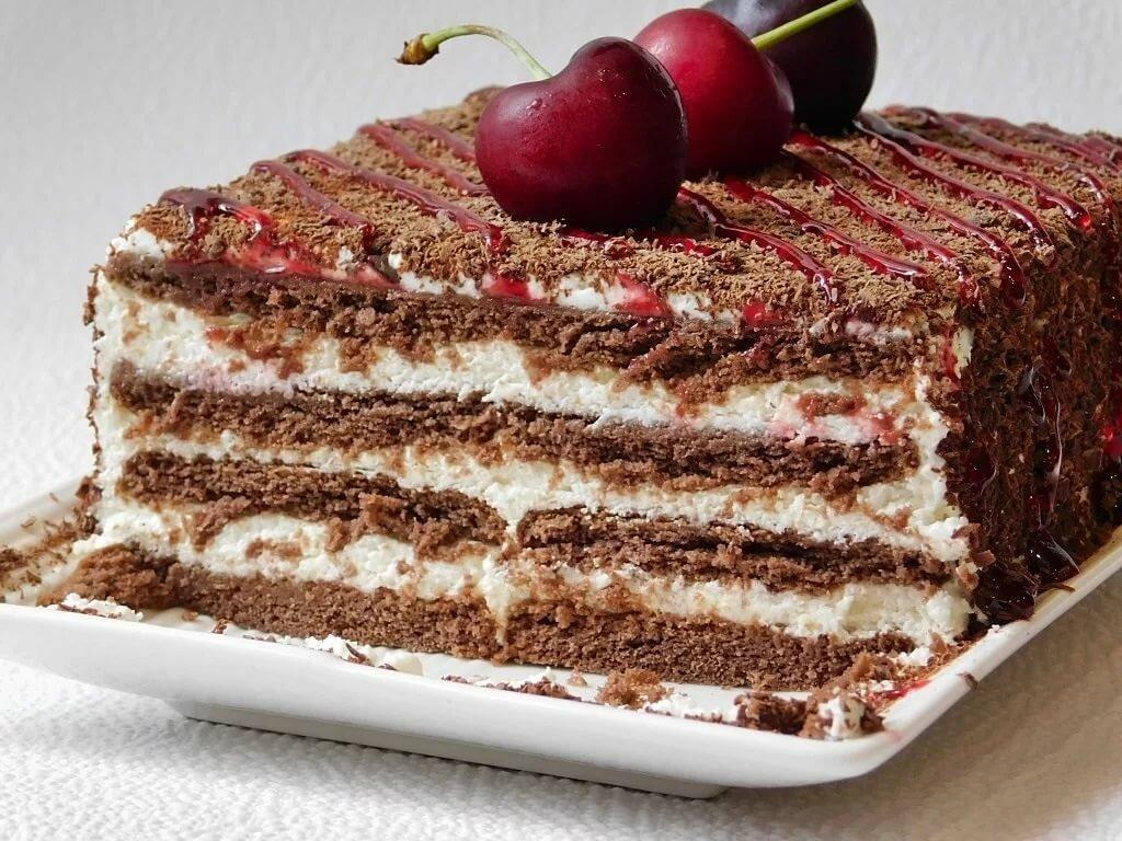 поздравления, простые торты без выпечки рецепты с фото как отец
