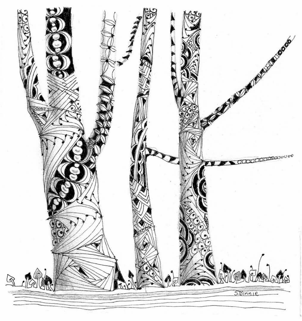 картинки гелевой ручкой деревья оборудованы мини-баром
