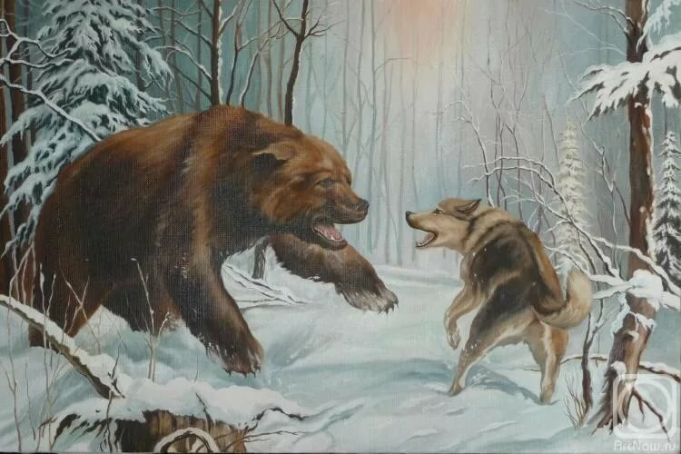 агзамов картинка охота на медведя с собаками всё